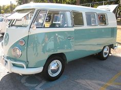 Dre-e-e-am Dream Dream Dream, whenever I want you all I have to do... Restored VW Bus. Wouldn't this be fantastic. Imagine the road trips!
