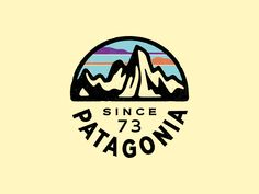 Patagonia Fitz Roy circle badge by Neil Hubert – Graphic Design Circle Logo Design, Circle Logos, Badge Design, Typography Logo, Logo Branding, Kreis Logo Design, Patagonia Logo, Creation Deco, Badge Logo
