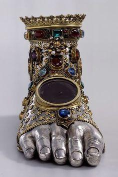 Copper reliquary made for one of the innocent children of bethlehem