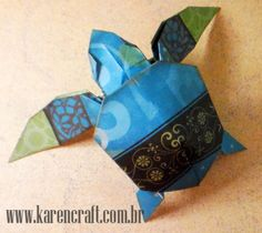 Sea Turtle - Origami Diagram: http://hkorigami.org/creation_gallery/jackychan/2009-03-GreenTurtle%20by%20JackyChan.pdf                                                                                                                                                      Más