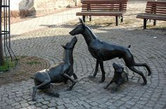 Doberman Monument in Apolda, Germany, where Louis Dobermann created the breed.