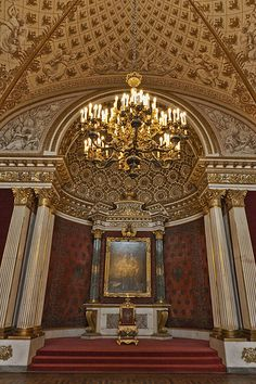 Hermitage Museum, Saint Petersburg Catherine the Great's throne room was left intact from the Winter Palace Beautiful Architecture, Art And Architecture, Palaces, St Pétersbourg Rússie, Catherine The Great, Winter Palace, Hermitage Museum, St Petersburg Russia, Imperial Russia