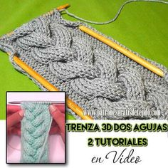 Cómo tejer trenza dos agujas en relieve tutorial en video Lace Knitting, Knitting Stitches, Knit Crochet, Stitch Patterns, Crochet Patterns, Diy Clothes, Cable Knit, Fingerless Gloves, Arm Warmers