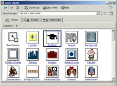 Microsoft Clip Art 1990's