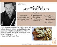Walnut Artichoke Pesto #NewYears #2013 #healthy