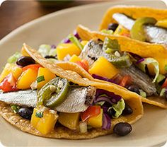 fiesta sardine tacos with fruit salsa » KING OSCAR – THE BEST SEAFOOD IN THE WORLD