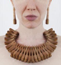 Susannah Mira – Choker [Piano Practice], 2012 | piano hammers, wire