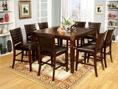 Counter Height Dining Table With 6 Chair Shefeild II Collection
