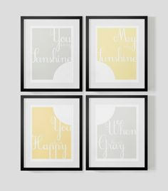 Nursery Collection You are My Sunshine by theten12 on Etsy