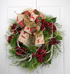 Designer Forest Reindeer Wreath