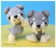 Schnauzer Puppies - pdf crochet pattern from Jaravee at Etsy  Who ever can crochet needs to make me this!