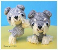 Etsy の Schnauzer Puppy PDF Crochet Pattern by jaravee