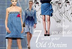 jeans refashion, denim recycle, recycle jeans, recycle denim, diy, man shirt re-fashion, man shirt into skirt, denim skirt recycle, recycle ...