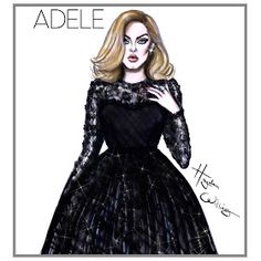 Hayden Williams Fashion Illustrations: Adele by Hayden Williams