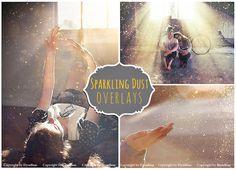 20 Sparkling Dust Photo Overlays JPG by ElyseBear on @creativemarket
