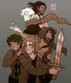 Blitzen, Hearthstone, Samirah, Alex, and Magnus! I think that's Alex Fierro. Not so sure though.
