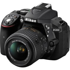 Nikon D5300, DSLR Camera (with Video), CMOS, 24.2 MP, Full HD 1920 X 1080p/60fps, with 18 - 55 mm Zoom - Nikkor NVR Lens