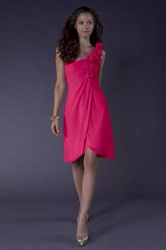 For Katie's wedding - Excellent wedding party dress! Love the color and one shoulder option.