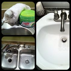 Car wax to polish your sinks and keep them shining longer than a regular cleaning. Why didn't I figure this out earlier!?