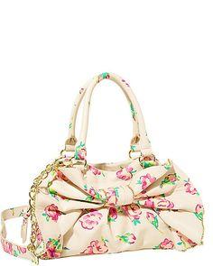 BOW DACIOUS MEDIUM SATCHEL CREAM MULTI accessories handbags non leather satchels