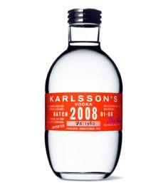 Label / Karlsson's Vodka packaging bottle