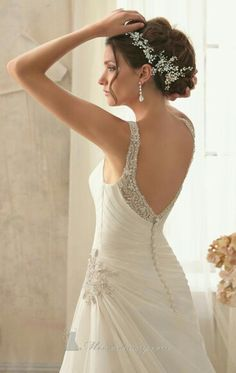 Shop Morilee's Morilee Bridal Intricate Beading on Delicate Chiffon Wedding Dress. Wedding Dresses and Bridal Gowns by Morilee designed by Madeline Gardner. Romantic and Sophisticated Chiffon Bridal Dress with Accents on Neckline and Waist. Wedding Dress Chiffon, Luxury Wedding Dress, Wedding Dress Styles, Dream Wedding Dresses, Wedding Gowns, Ball Dresses, Ball Gowns, Prom Dresses, Dress Prom