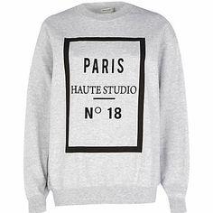 Grey Paris haute studio print sweatshirt £25.00