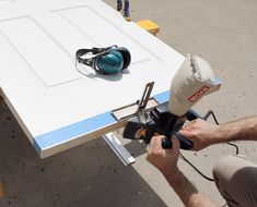 How to trim sticking doors with a power planer.