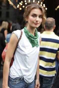 bandana and t-shirt