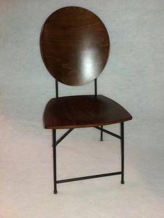 κάθισμα μεταλλικό με ξύλο