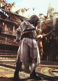 Ezio Auditore from... yes I know he's from Firenze but I think also from Brotherhood, he's too young for Revelations...