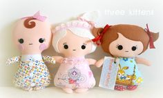Tiny Tot (baby Easter softie dolly doll felt bunny pink girl ribbon)