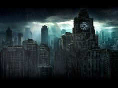 Gotham City, as seen in the Nolan films. Description from pinterest.com. I searched for this on bing.com/images