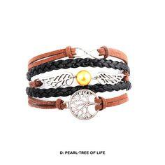 5-Piece Set: Handcrafted Bohemian-Inspired Genuine Leather Bracelets - Assorted Styles   nomorerack.com