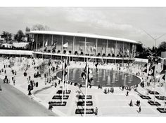 Expo '58: The United States Pavilion and grounds.