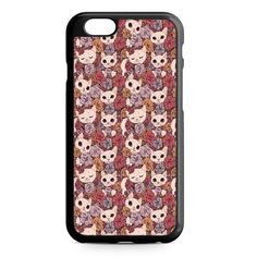 Vintage Floral White Cats iPhone 7