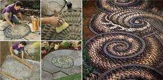 DIY Pebble Mosaic Garden Path | DIY Tag