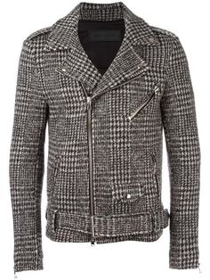 Shop Route Des Garden houndstooth pattern biker jacket in Divo from the world's best independent boutiques at farfetch.com. Shop 400 boutiques at one address.