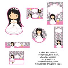 Primera comunion etiquetas Brown Things brown color schemes for living rooms First Communion Favors, Communion Invitations, First Holy Communion, Owl Classroom, Brown Color Schemes, Pink Christmas Tree, Disney Rapunzel, Cat Crafts, Mom Birthday