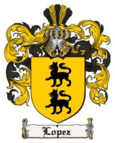 Lopez family crest.