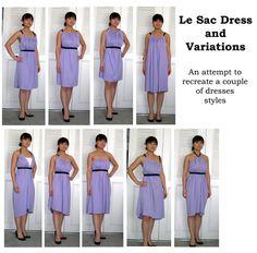 """""""Le Sac"""" multi-dresses tutorial in spanish - tuto de la robe transformable """"le sac"""" (bof bof, le nom)"""