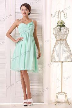 Mint green bridesmaid dress short bridesmaid dress new by lassprom, $110.00
