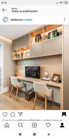 Living Room Partition Design, Room Partition Designs, Study Room Design, Home Office Design, Home Interior Design, Small Office Furniture, Office Nook, Kitchen Cabinet Design, Living Room Bedroom