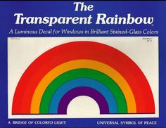 The transparent rainbow decal.  Used to see these in car windows all the time.