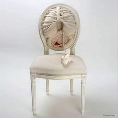 Textile Artist and Costume Designer Collaborate on The Anatomy Chair | http://www.ifitshipitshere.com/the-anatomy-chair/