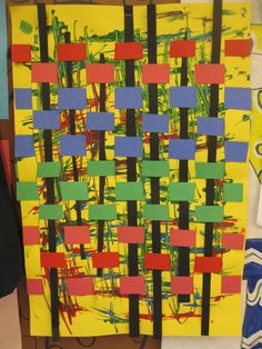 The Clever Feather: Jackson Pollock Weavings Pollock Artist, Artist Project, Art Cart, Paper Weaving, School Art Projects, Drip Painting, Kindergarten Art, Art Lessons Elementary, Jackson Pollock