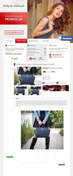 aab133b20b Kolejny szablon pod sprzedaż odzieży damskiej oraz galanterii.   szablonallegro  odziezdamska  torebki