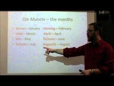 PA Dutch 101: Video 11 - Days, Months, Seasons