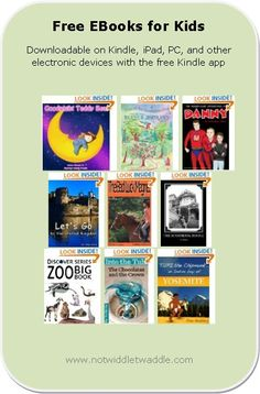 Free eBook list for kids, including picture books and novels