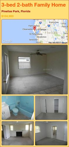 3-bed 2-bath Family Home in Pinellas Park, Florida ►$104,900 #PropertyForSale #RealEstate #Florida http://florida-magic.com/properties/87605-family-home-for-sale-in-pinellas-park-florida-with-3-bedroom-2-bathroom